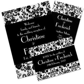 Rococo Wedding Black (colour customizable)