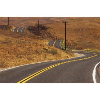 USA, California. Winding country road. Credit