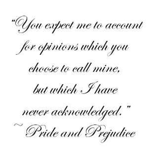 Account for Opinions Jane Austen Quote