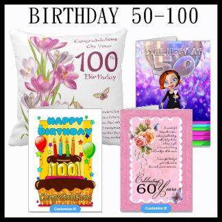 Birthday 50-100