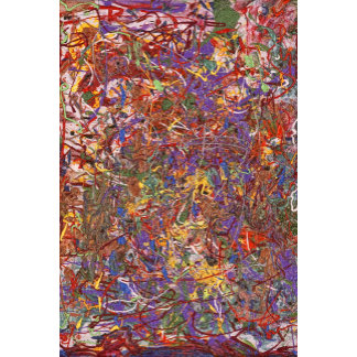 Abstract - Fabric Paint - String Theory