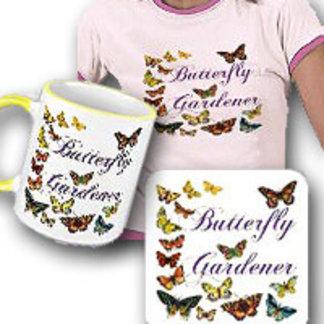 Butterfly Gardener Artwork and Slogan