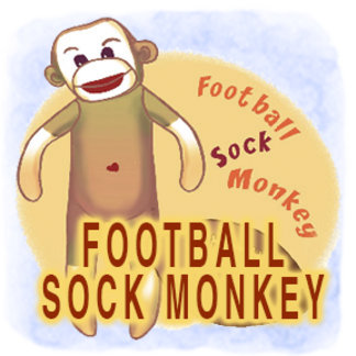 Football Sock Monkey