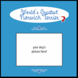Personalized World's Greatest Norwich Terrier