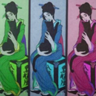 Geisha with Cat