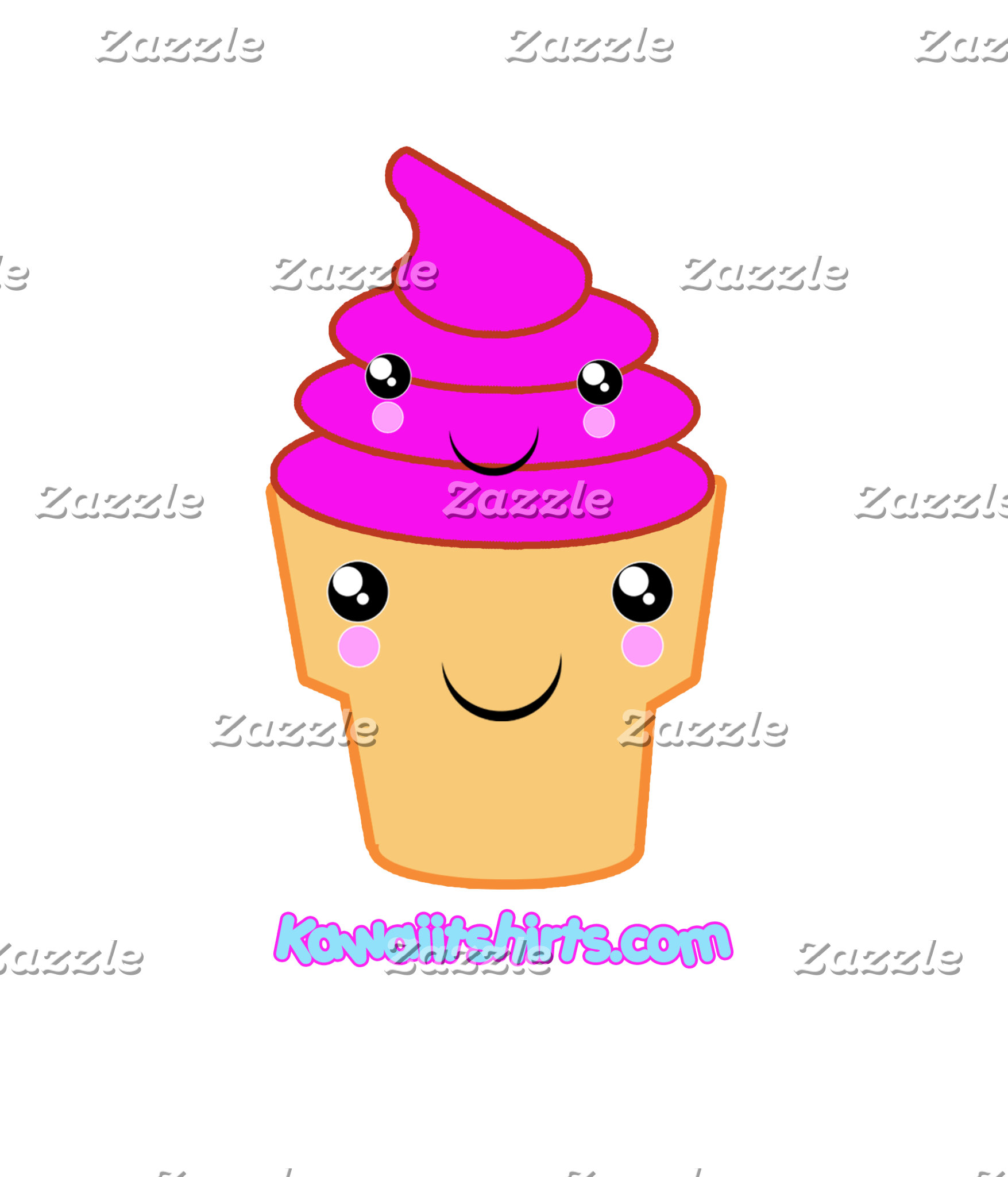 Ice cream & cone cute Kawaii friends t-shirts