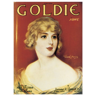 Goldie Song - Vintage Song Sheet Music Art