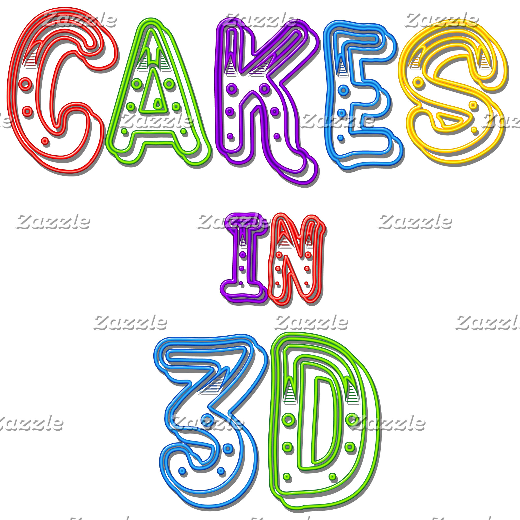 The Cakes in 3D logo 2