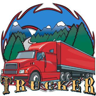 Mountain Scene and Sky Truckers