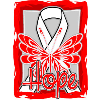 Lung Cancer Hope Butterfly Portrait