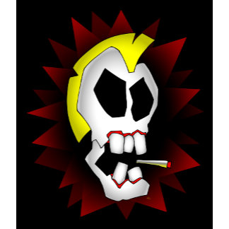 smoking skull-1