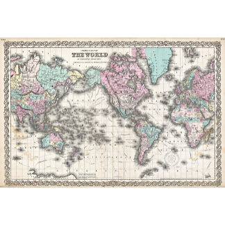 Vintage Map ,World Map Posters