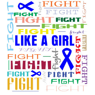 Rectal Cancer Fight Like a Girl Collage