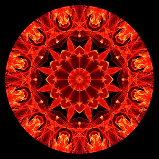 Orange Wheel of Fire Mandala