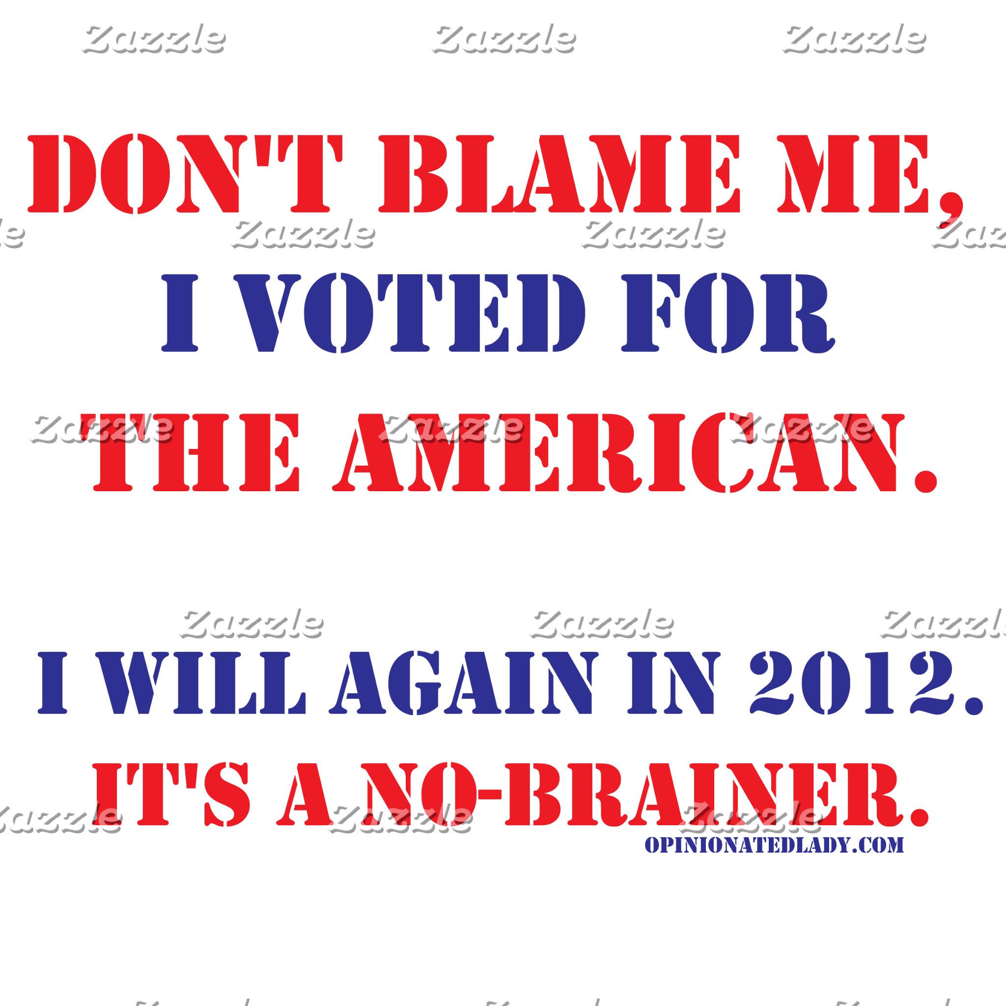 Don't Blame Me...