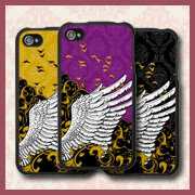Bird Wing Damask iPhone 4 Cases