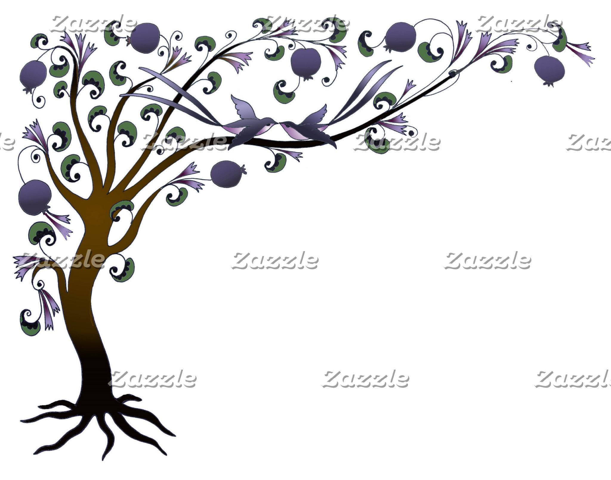 Tree of life - mauve