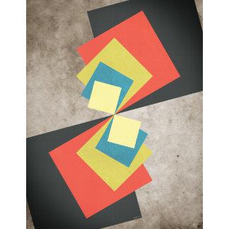 Geometric Grunge Squares