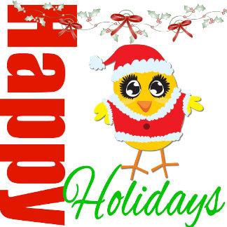 Happy Holidays Santa Chick v2