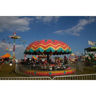 Colorful kid ride at fair