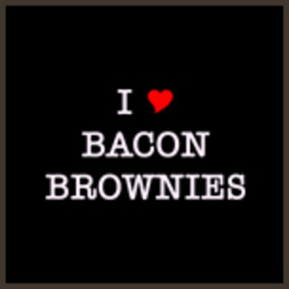 I Love Bacon Brownies