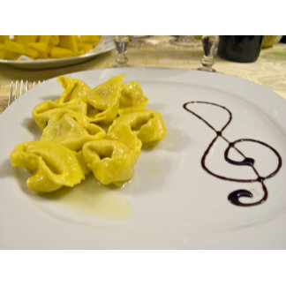 Italy, Cento. A plate of cheese tortellini