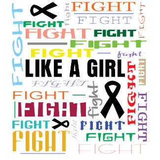 Melanoma Fight Like a Girl Collage