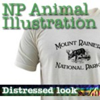 Animal Illustrations National Park T-Shirts