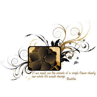Single Flower Buddha Quote