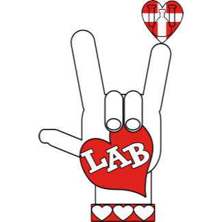 ASL  I LOVE THE LAB! ASL HAND SIGN FOR LOVE