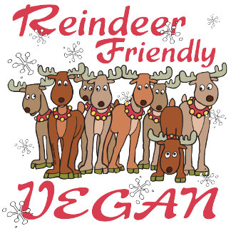 Reindeer Friendly Vegan T-shirts and Gifts