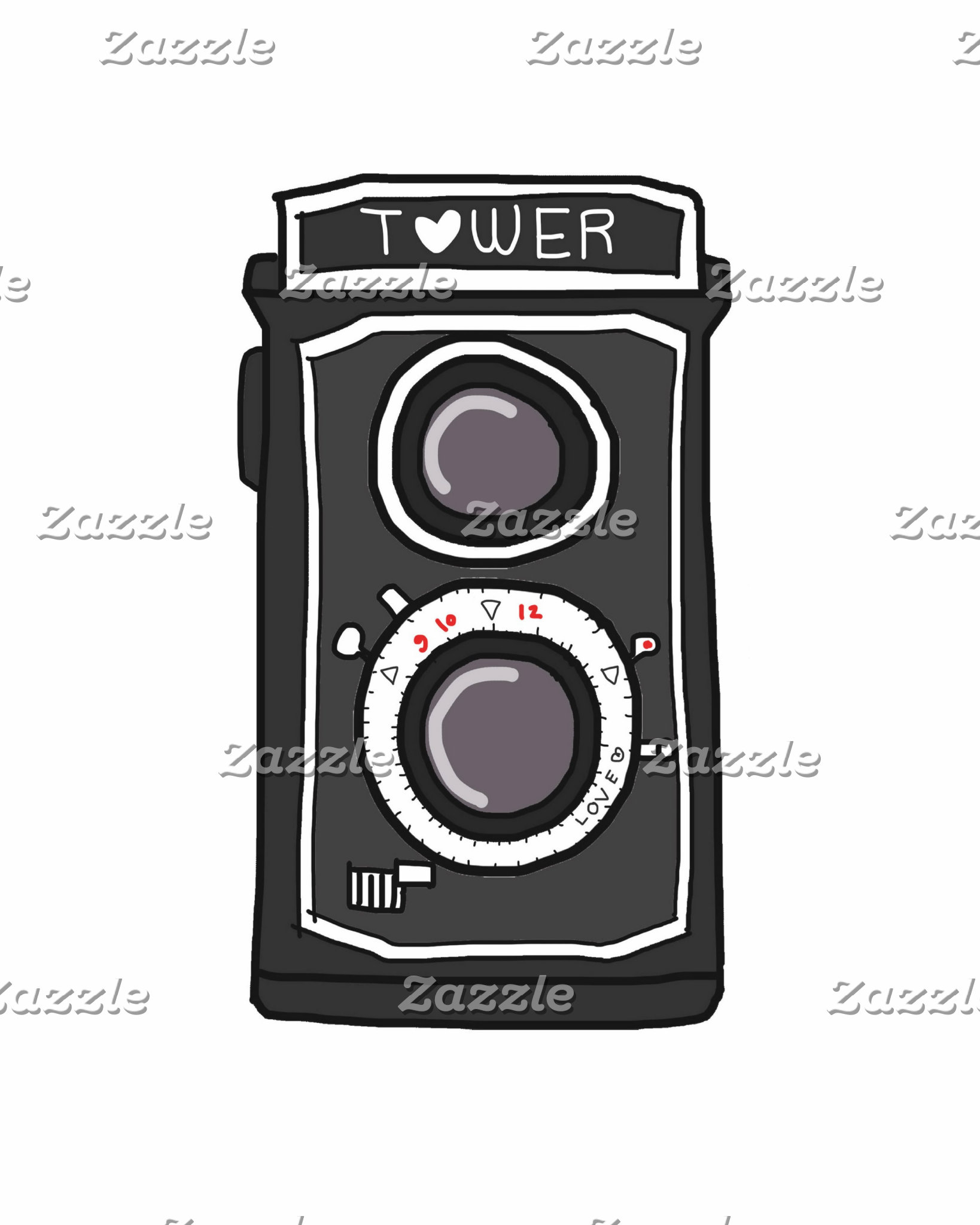 Vintage Camera Black and Gray