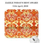 Beautiful pattern - red & orange mousepad.png