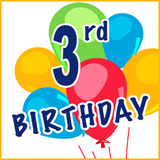3rd Birthday T-shirts, Cake Toppers, Gifts, Favors