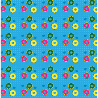 Cuper cute doughnuts of different colours pattern