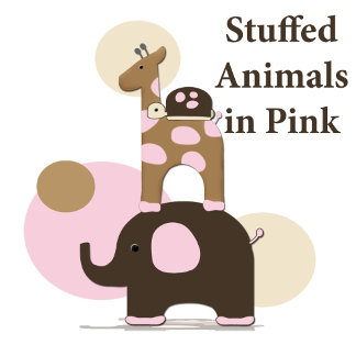 Stuffed Animals in Pink
