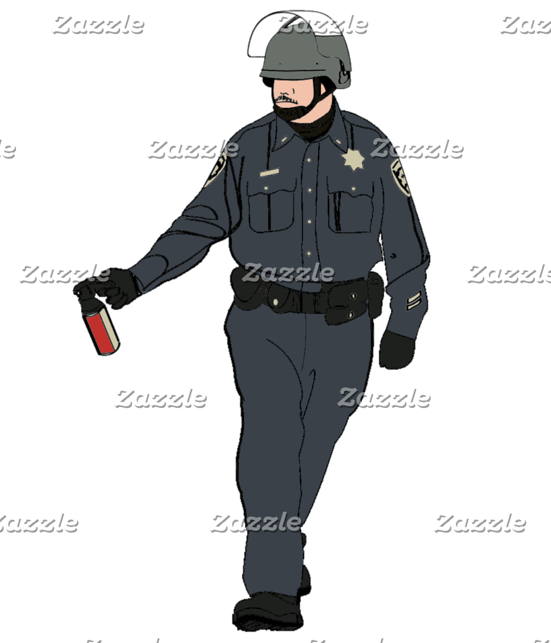 Casual Pepper Spray Cop