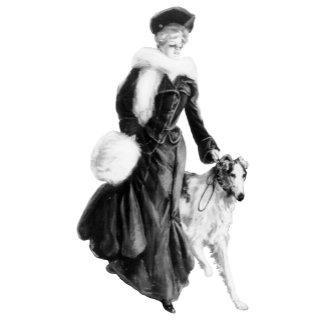 Vintage Fashion Borzoi art