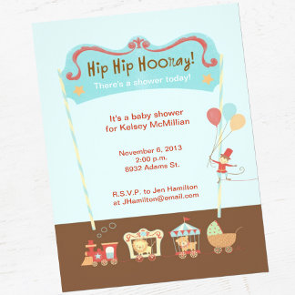 Hip, Hip, Hooray Circus Baby Shower Suite