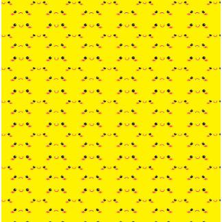 Super cute Kawaii face on yellow