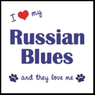 I Love My Russian Blues (Multiple Cats)