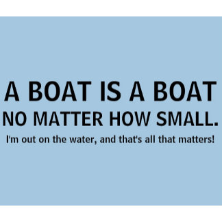 A boat is a boat, no matter how small - funny