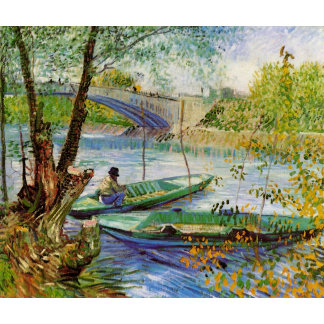 Fishing in the Spring, the Pont de Clichy