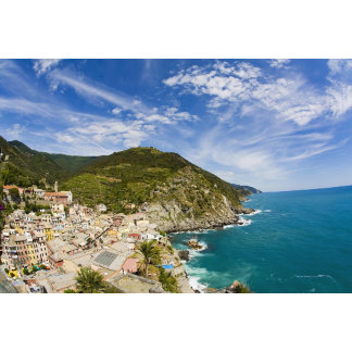 Italy, Cinque Terre, Vernazza, Hillside Town of