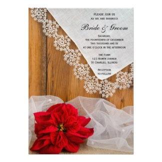 Rustic Poinsettia Winter Wedding