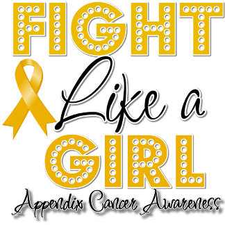 Fight Like a Girl Dazzling - Appendix Cancer