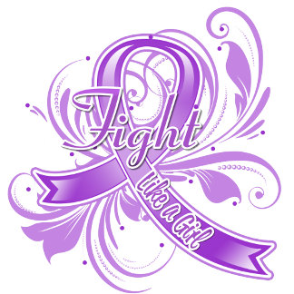 Epilepsy Fight Like a Girl Flourish
