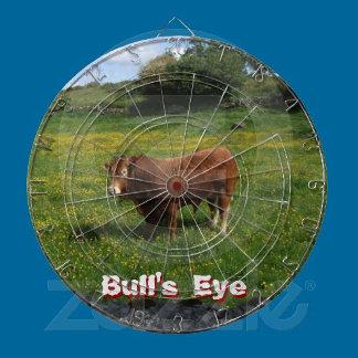 Bulls Eye Dartboards with a aim.