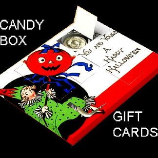 Chocolate Candy Favor Gift Card Box