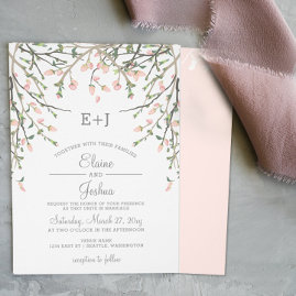 Blooming Blush Floral Wedding invitations Set